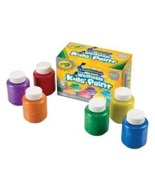 Набор красок Crayola Washable Paint Metallic Colors в баночках 6 шт