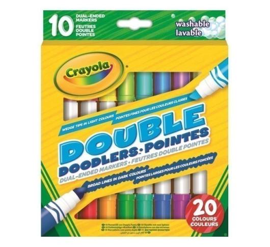 Набор двусторонних фломастеров Crayola Washable 10 шт