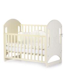 Детская кроватка Верес Соня ЛД-8 без ящика Мишка со стразами Слоновая кость