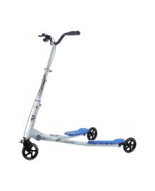 Самокат трехколесный GO Travel Speeder большой, серебристо-голубой LS-302(L)_SB, 5656568565892