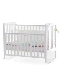 Детская кроватка-качалка Верес Соня ЛД-12 без ящика Лапки Белая