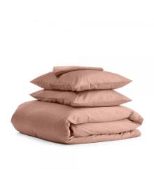 Комплект семейного постельного белья сатин BEIGE Сатин_Кофе_160x2