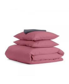 Комплект семейного постельного белья сатин PUDRA GREY-S Сатин_Пудра_СераяП_160x2