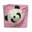 Уголок махровый Панда розовый 2108-1