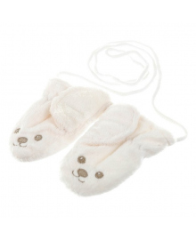 Варежки LENNE Северный мишка белые, р. 52 18349 E, 4741578263027