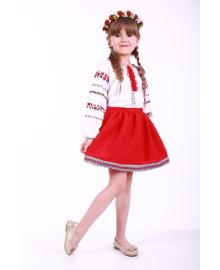 Вишиванка для дівчинки Трояндова доріжка червона р. 92, 98,104, 110 BLd-302-069-O