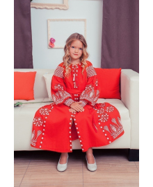 Вишите плаття для дівчинки Розкіш 2 червоне р. 140, 146, 152, 158 PLd-120-150-L