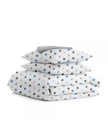 Комплект полуторного постельного белья STAR BLUE GREY DROP StarBlue_GreyDrop_160, 4822066495271