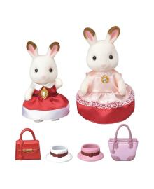 Игровой набор Sylvanian Families Нарядная одежда Комплект Шоколадного Кролика