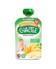 Пюре Маленькое счастье Яблоко Банан 90 г
