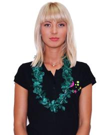 Леи гавайские эконом (темно-зеленые) 030718-001