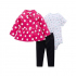Комплект для девочки 3 в 1 Berni Белый горошек (SH-1446-HA08220) Berni Kids