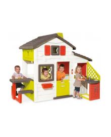 Домик для друзей Smoby с чердаком и летней кухней 810200, 3032168102002