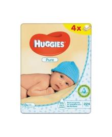 Детские влажные салфетки Huggies Pure Quadro, 224 шт