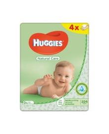 Детские влажные салфетки Huggies Natural Care Quadro, 224 шт