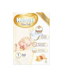 Подгузники Huggies Elite Soft Размер 1 для новорожденных 3-5 кг, 50 шт