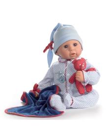 Пупс Куки в голубом с игрушкой, 48 см Götz 1161034, 4001269610340