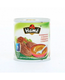 Пюре мясное Hame Говядина Язык 100 г