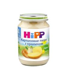 Пюре овоще-мясное HiPP Картофельное пюре с кроликом 190 г