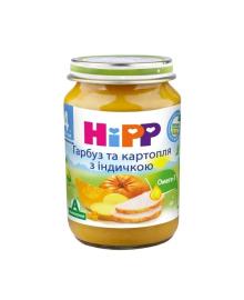 Пюре органическое овоще-мясное HiPP Тыква Картофель Индейка 190 г