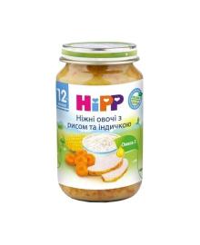 Пюре органическое овоще-мясное HiPP Овощи Рис Индейка 220 г