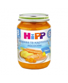 Пюре HiPP Морковь и картофель с лососем 190 г