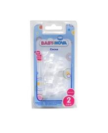 Соска BABY-NOVA ортодонтическая из силикона для молока №2, 2 шт