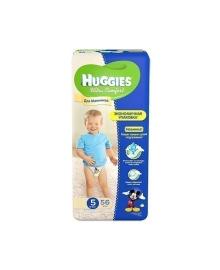 Подгузники Huggies Ultra Comfort Мega для мальчиков Размер 5 (12-22 кг), 56 шт