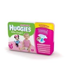 Подгузники Huggies Ultra Comfort Мega для девочек Размер 4 (8-14 кг), 66 шт