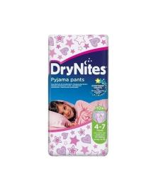 Подгузники-трусики Huggies Dry Nites 4-7 лет для девочек, 10 шт