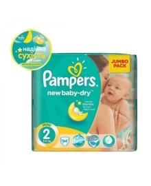 Подгузники Pampers New Baby Размер 2 Mini 4-8 кг 94 шт