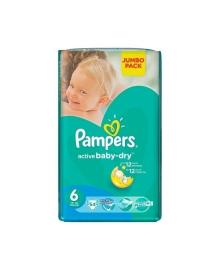 Подгузники Pampers Active Baby-Dry Размер 6 Extra large 13-18 кг 52 шт