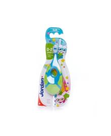 Зубная щетка с твердым зубным кольцом мягкая, 0-2 года (в ассорт) Jordan 6220100, 7038513866304