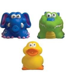 Іграшки для купання (каченя, крокодил і слоник) Nuby 6022