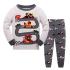 Детская пижама Wibbly pigbaby Формула-1 Серый