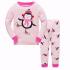 Детская пижама Wibbly pigbaby Пингвин Розовый
