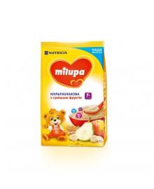 Каша Milupa молочная мультизлаковая со смесью фруктов, 210 г