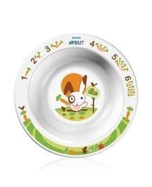Маленькая тарелка с развивающим рисунком (белая) Philips Avent SCF706/00