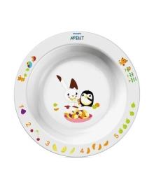 Большая глубокая тарелка с рисунком (белая) Philips Avent SCF704/00, 8710103526926
