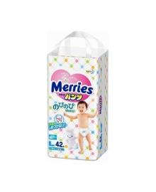 Подгузники-трусики Merries Размер L (9-14 кг), 44 шт