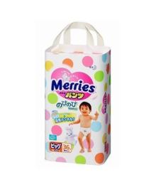 Подгузники-трусики Merries Размер XL (12-22 кг), 38 шт