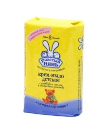 Крем-мыло детское «Ушастый нянь» с оливковым маслом и экстрактом ромашки, 90 г