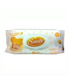 Влажные салфетки Smile baby с экстрактами ромашки и алоэ 0+ 60 шт