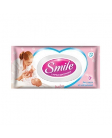 Влажные салфетки Smile baby с пищевыми ингредиентами 0+ 72 шт