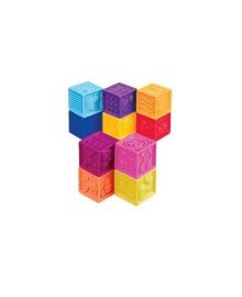 Разивающие силиконовые кубики - ПОСЧИТАЙ-КА! (10 кубиков, в сумочке)