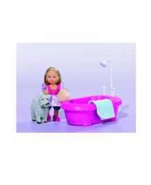 Кукла Steffi & Evi Love Эви и Набор для купания песика