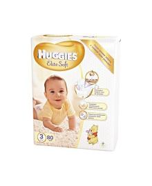 Подгузники Huggies Elite Soft Мega Размер 3 (5-9 кг), 80 шт
