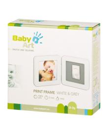 Набор для создания отпечатка ручки или ножки малыша Baby Art Двойная рамка Белая