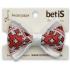 Бабочка BetiS Украинская Мини, атлас, белый с красным (27075779) Бетіс, 2922180096049