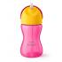 Чашка с трубочкой Philips Avent 12+, розовый с желтым, 300 мл (SCF798/02), 8710103781998